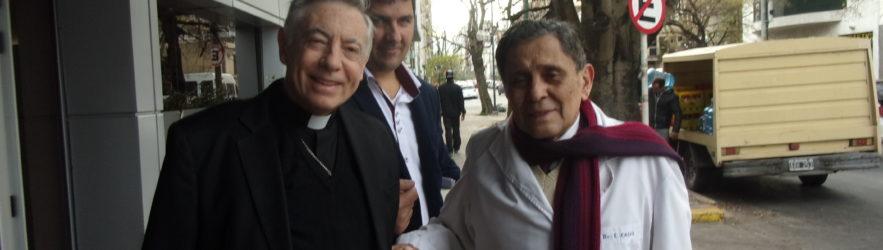 """Mons. Aguer dejó este viernes 24 la clínica """"Mater Dei""""."""