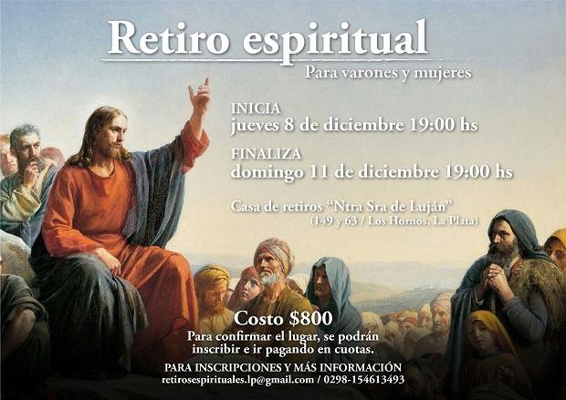 Retiro Espiritual De Adviento Para Varones Y Mujeres En Los Hornos