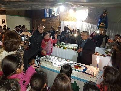 Visita a la parroquia María Auxiliadora, en Abasto