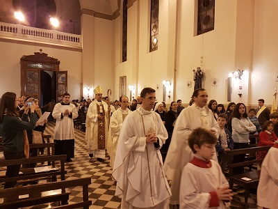 El Arzobispo presidió la fiesta patronal de San Luis Gonzaga
