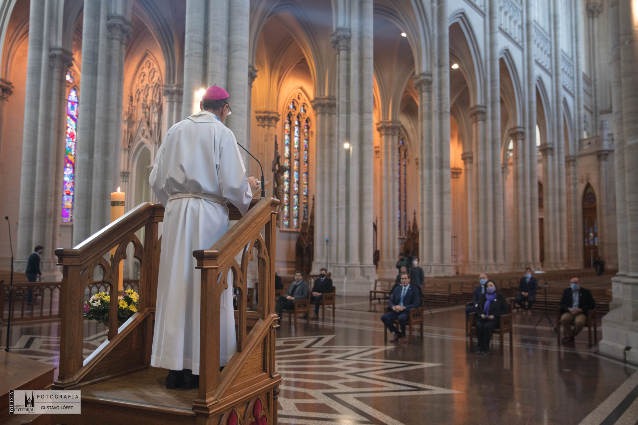 Fernández en la catedral