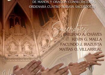 RECORDATORIO: El Arzobispo ordenará cuatro nuevos sacerdotes